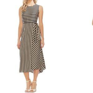 VINCE CAMUTO Bay Stripe Side Tie Midi Dress 6 NWT